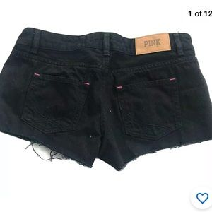 Victoria's Secret cheeky cut off shorts black